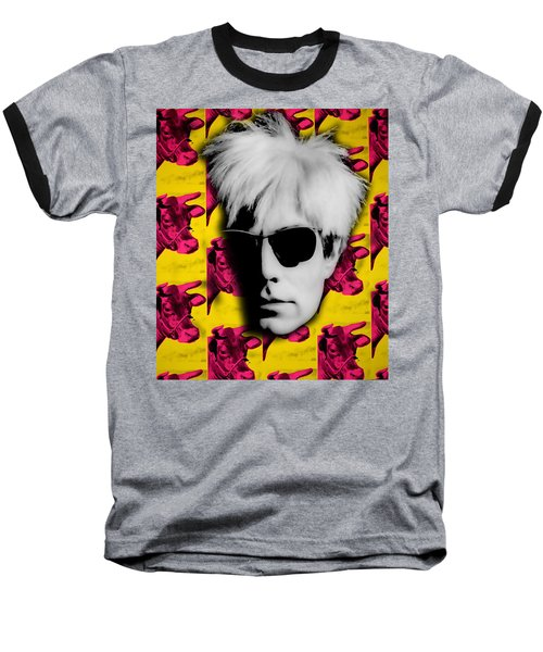 Andy Warhol Collection Baseball T-Shirt by Marvin Blaine