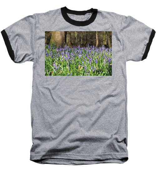 Bluebells At Banstead Wood Surrey Uk Baseball T-Shirt