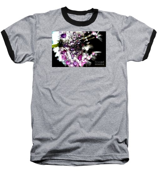 Crystal Flower Baseball T-Shirt by Sylvie Leandre