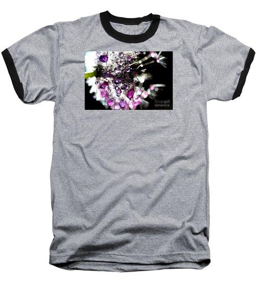 Crystal Flower Baseball T-Shirt