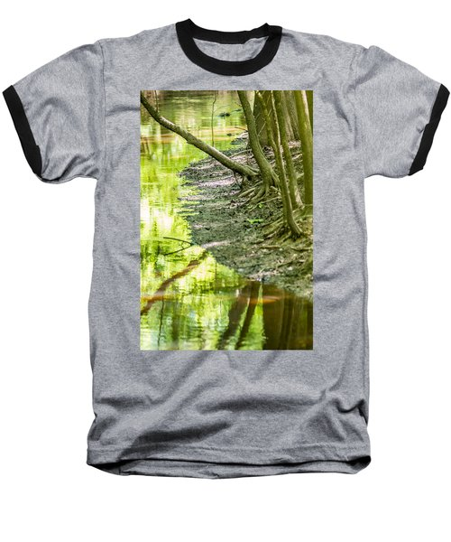 Baseball T-Shirt featuring the photograph cypress forest and swamp of Congaree National Park in South Caro by Alex Grichenko