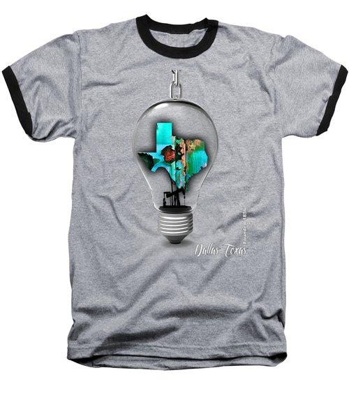Dallas Texas Map Collection Baseball T-Shirt