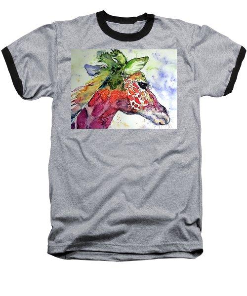 Giraffe  Baseball T-Shirt by Kovacs Anna Brigitta