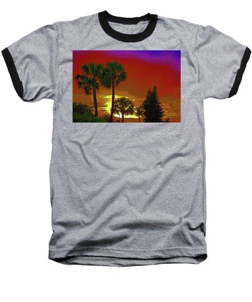 Baseball T-Shirt featuring the digital art 7- Holiday by Joseph Keane