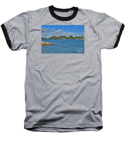 7- Jupiter Lighthouse Baseball T-Shirt by Joseph Keane