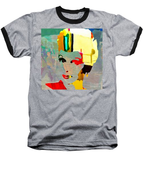 Baseball T-Shirt featuring the mixed media Lucille Ball by Marvin Blaine