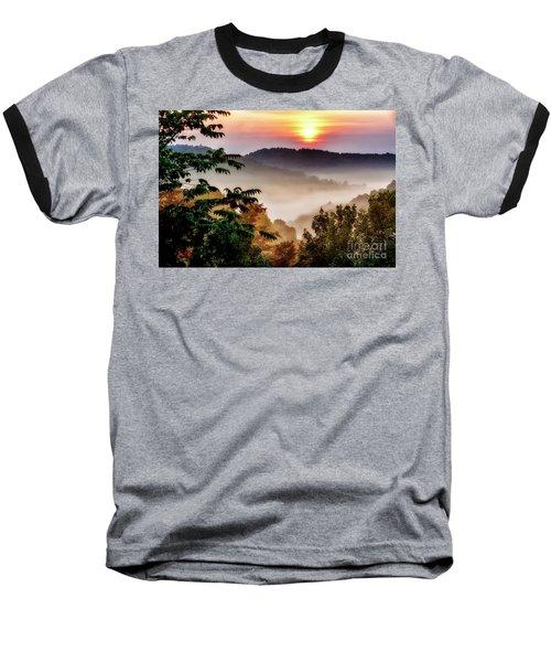 Mountain Sunrise Baseball T-Shirt by Thomas R Fletcher