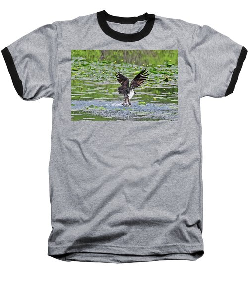 Osprey Fishing Baseball T-Shirt