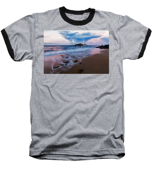 Saint Mary's Lighthouse At Whitley Bay Baseball T-Shirt