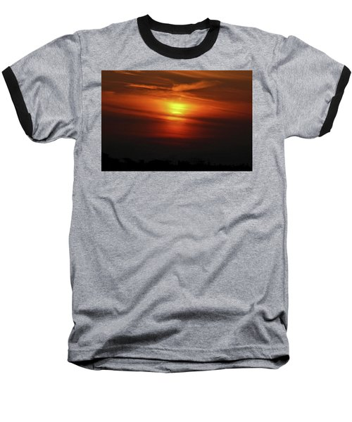 Baseball T-Shirt featuring the photograph 7- Sunset by Joseph Keane