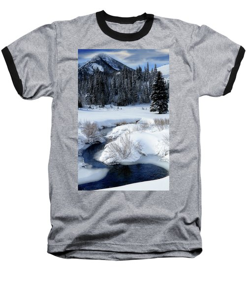 Wasatch Mountains In Winter Baseball T-Shirt by Utah Images