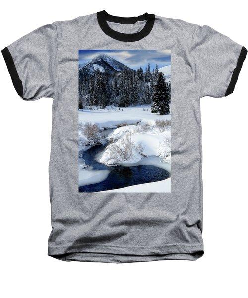 Wasatch Mountains In Winter Baseball T-Shirt