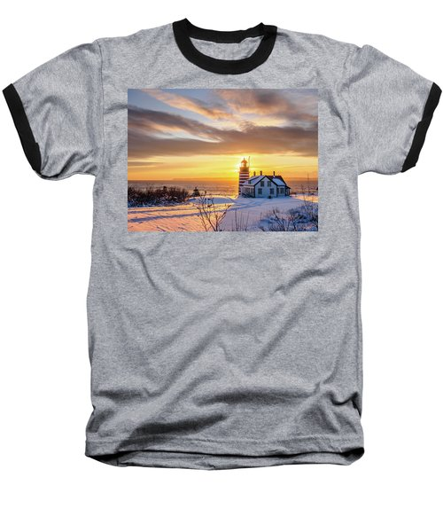 Baseball T-Shirt featuring the photograph West Quoddy Head Lighthouse by Trace Kittrell