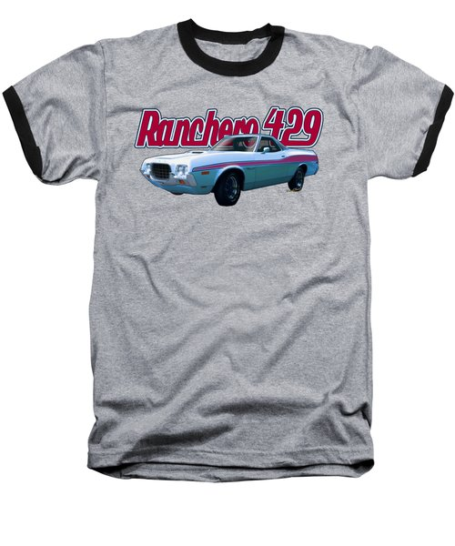72 Ford Ranchero By The Sea Baseball T-Shirt