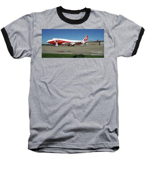 747 Supertanker Baseball T-Shirt by Bill Gabbert