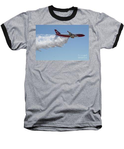 747 Supertanker Drop Baseball T-Shirt by Bill Gabbert