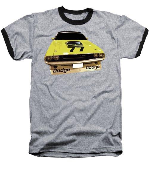 77 Yellow Dodge Baseball T-Shirt