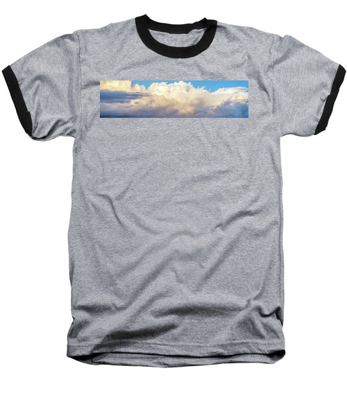 Baseball T-Shirt featuring the photograph Clouds by Les Cunliffe