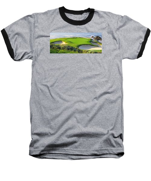 7th Hole At Pebble Beach Hol Baseball T-Shirt