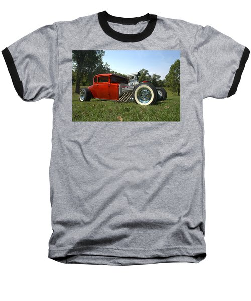1930 Ford Coupe Hot Rod Baseball T-Shirt