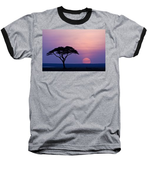 African Sunrise Baseball T-Shirt