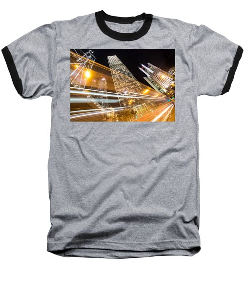 Hong Kong Night Rush Baseball T-Shirt