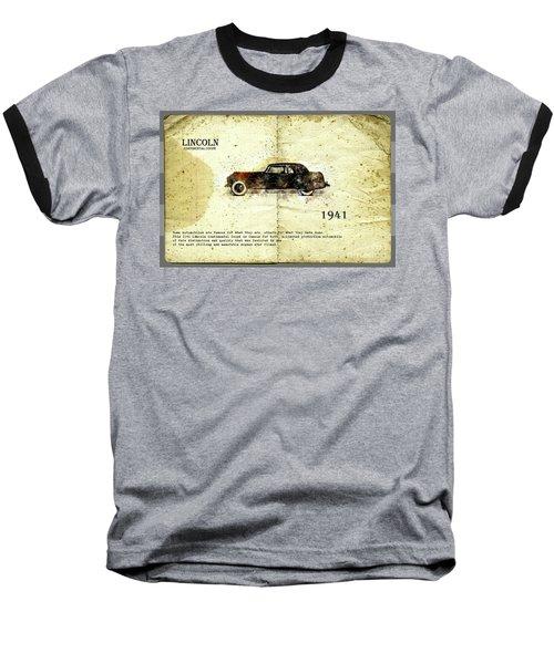 Retro Car In Sketch Style Baseball T-Shirt