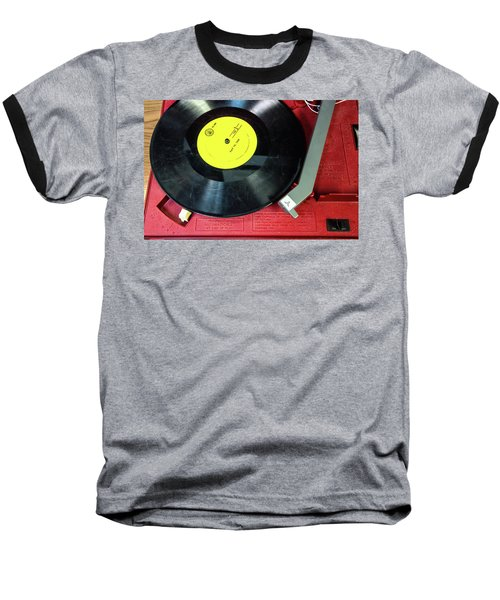 Baseball T-Shirt featuring the photograph 8 Rpm Record Player by Gary Slawsky