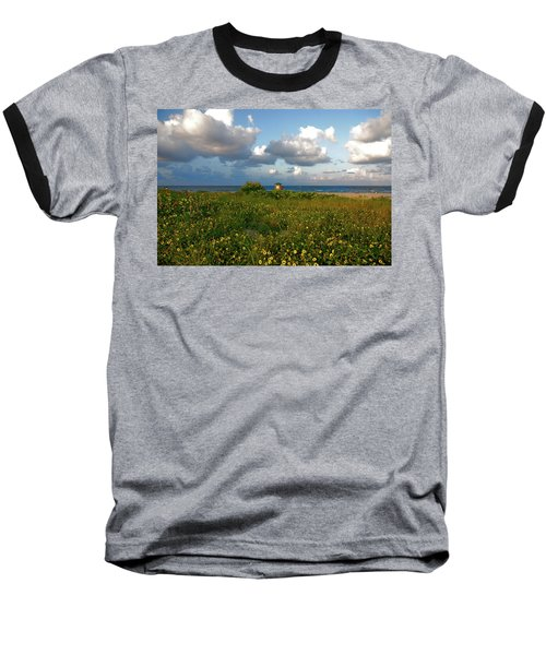 Baseball T-Shirt featuring the photograph 8- Sunflowers In Paradise by Joseph Keane