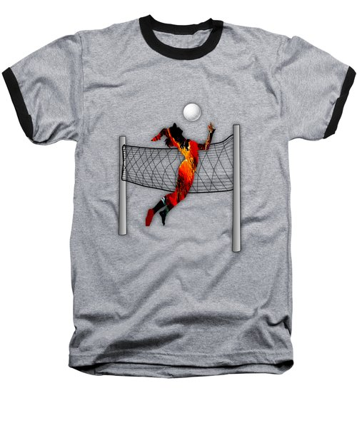 Vollyball Collection Baseball T-Shirt by Marvin Blaine