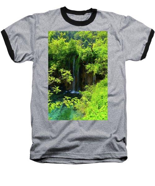 Waterfall In Plitvice National Park In Croatia Baseball T-Shirt