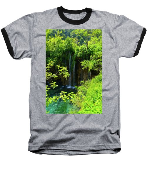 Waterfall In Plitvice National Park In Croatia Baseball T-Shirt