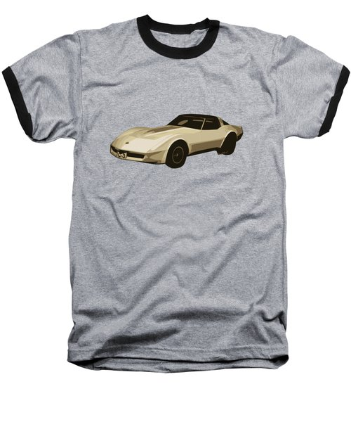82 Corvette Generation C3 Digi Illustration Baseball T-Shirt