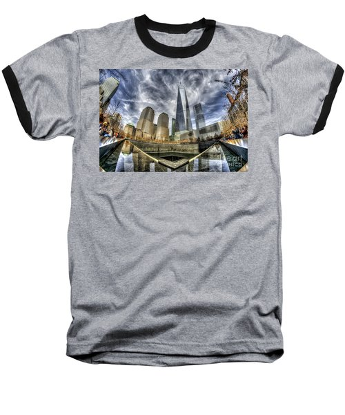 9/11 Memorial - Nyc Baseball T-Shirt by Rafael Quirindongo