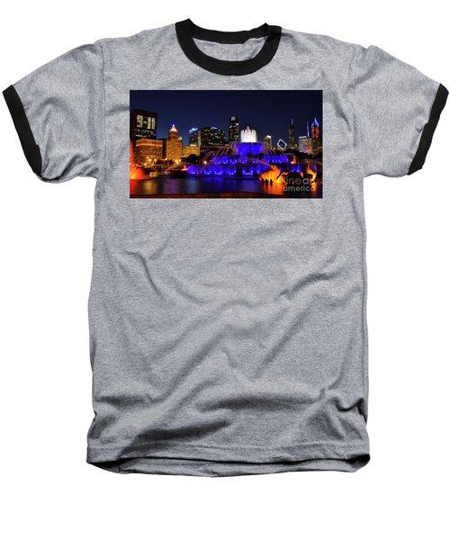 911 Tribute At Buckingham Fountain, Chicago Baseball T-Shirt