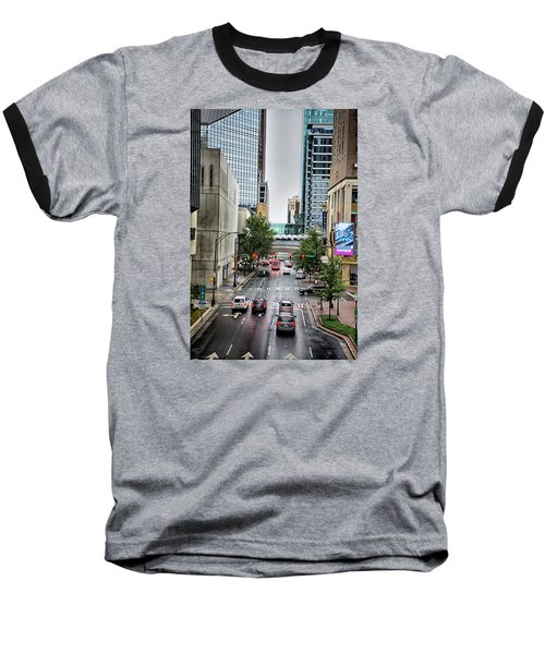 Baseball T-Shirt featuring the photograph Charlotte North Carolina Views Around  Downtown by Alex Grichenko