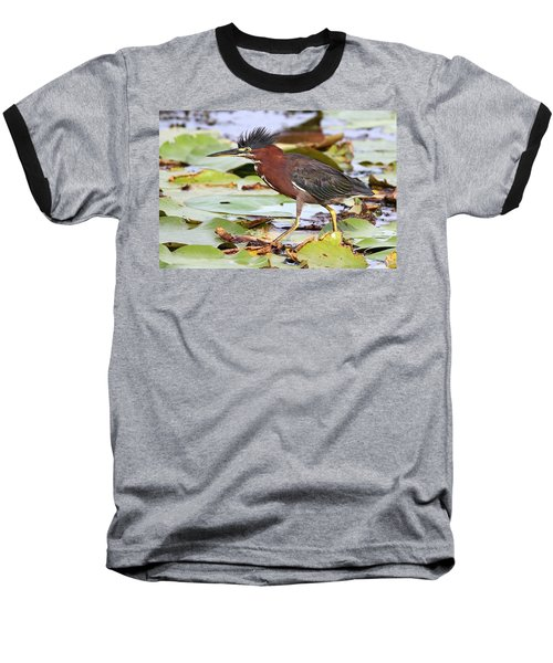 Green Heron Baseball T-Shirt