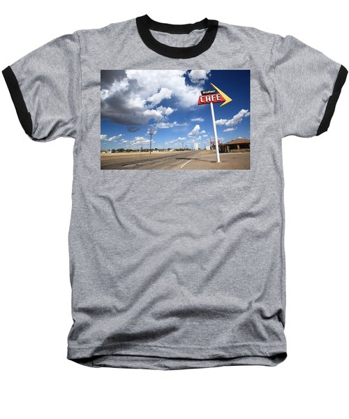 Route 66 Cafe Baseball T-Shirt by Frank Romeo