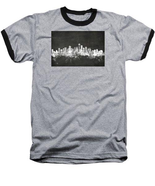 Seattle Washington Skyline Baseball T-Shirt