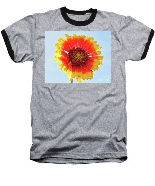 Baseball T-Shirt featuring the photograph Yellow Flower by Elvira Ladocki