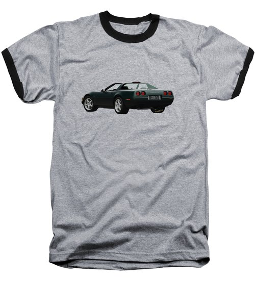 94 Corvette Zr-1 Three-quarter Back Baseball T-Shirt