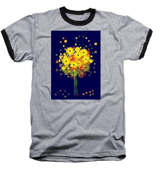 952 - Summer Flowers  Yellow ... Baseball T-Shirt by Irmgard Schoendorf Welch