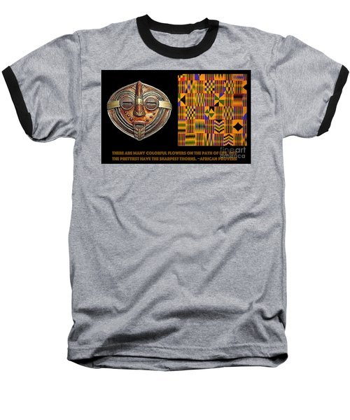 A  African Proverb Baseball T-Shirt by Jacqueline Lloyd