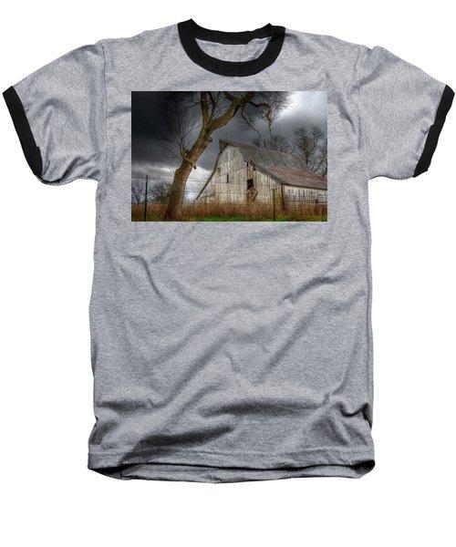 A Barn In The Storm 2 Baseball T-Shirt by Karen McKenzie McAdoo