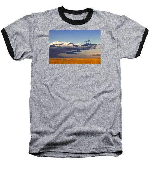 Baseball T-Shirt featuring the photograph A Barn On The Prairie by Monte Stevens