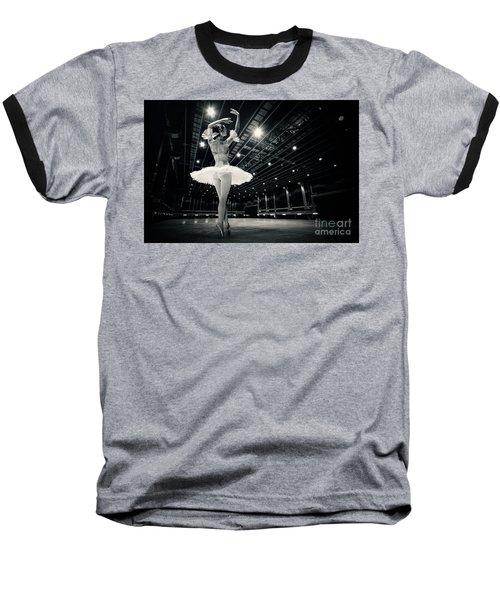 Baseball T-Shirt featuring the photograph A Beautiful Ballerina Dancing In Studio by Dimitar Hristov