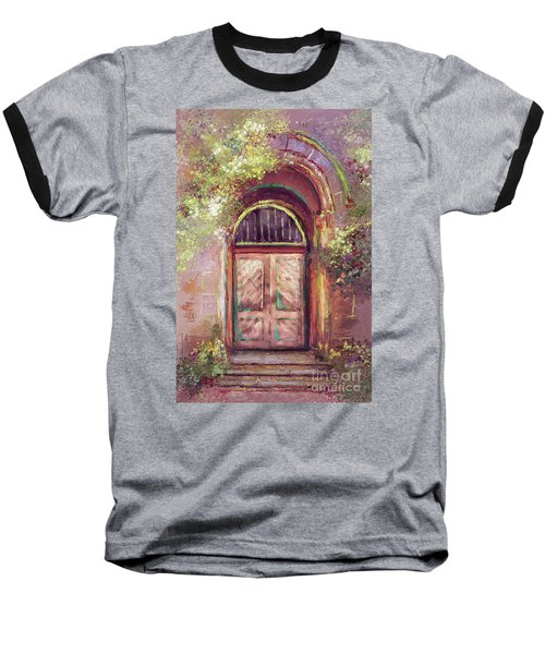 Baseball T-Shirt featuring the digital art A Beautiful Mystery by Lois Bryan