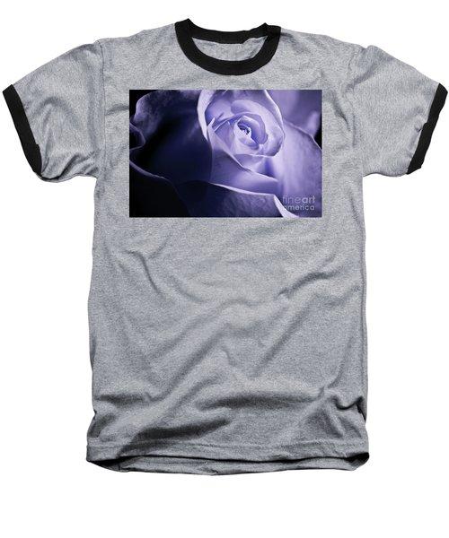A Beautiful Purple Rose Baseball T-Shirt by Micah May