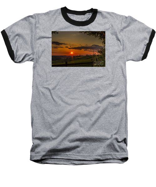 A Beautiful Sunset Over The Surrey Hills Baseball T-Shirt