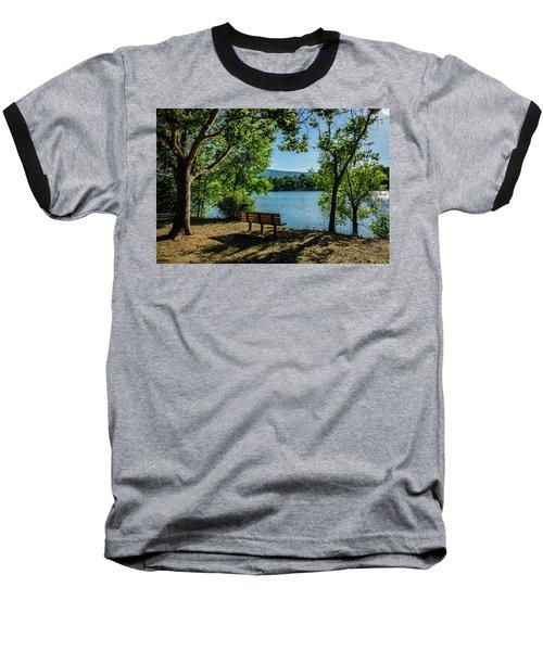 A Bench Overlooking Vasona Lake Baseball T-Shirt